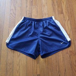 Nike Lined Running Shorts Size Medium 8/10 Navy